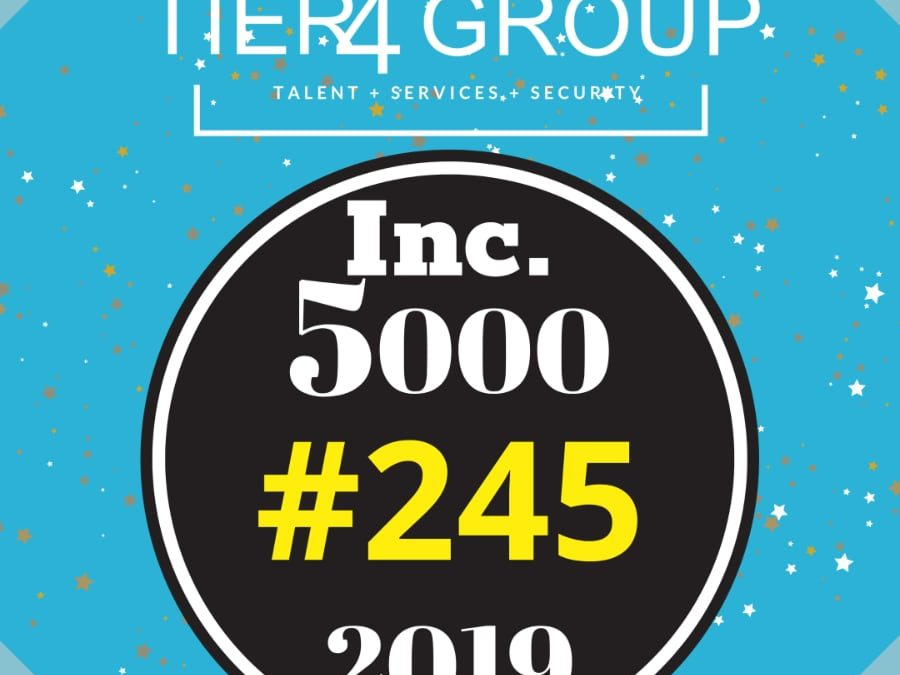 Tier4 Group Appears on Inc. 5000 at No. 245